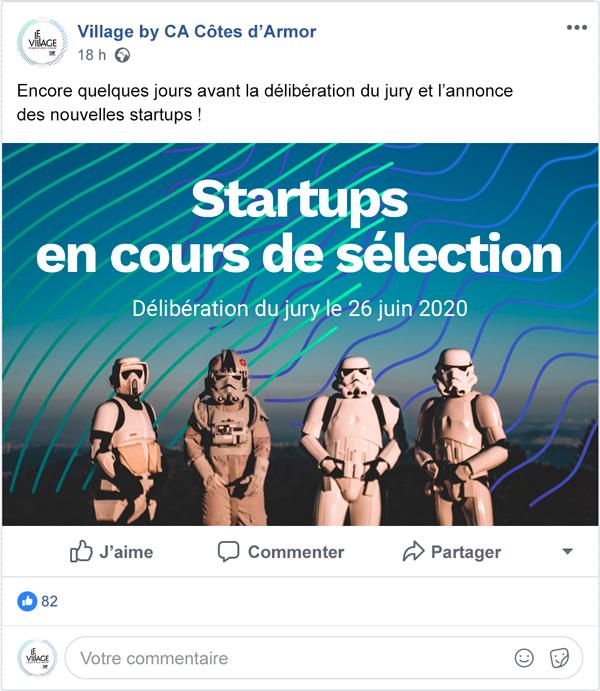Publication Facebook - Village by CA