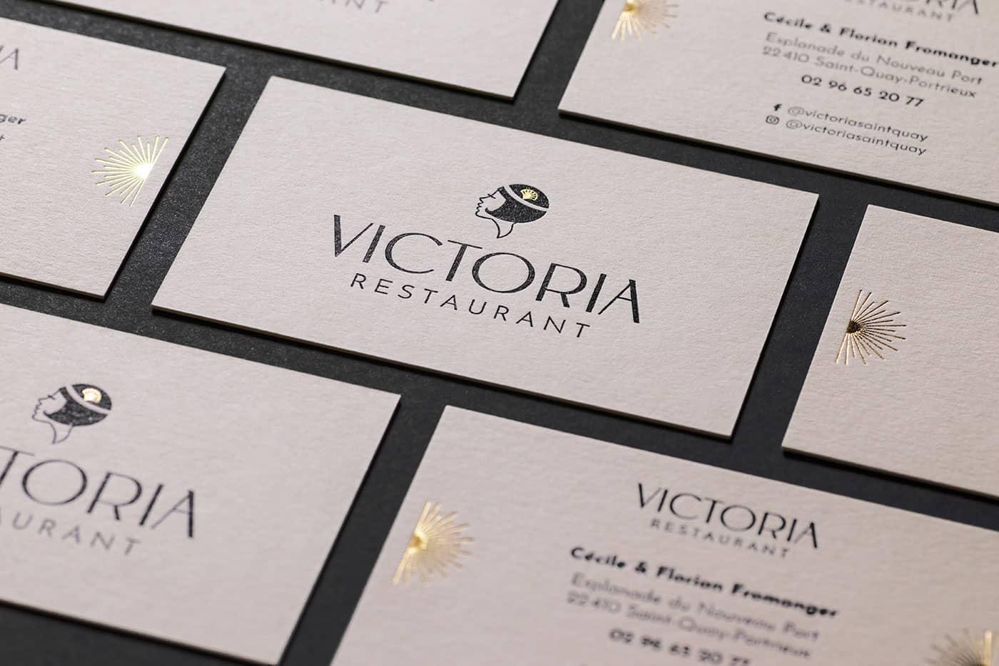 Carte de visite finition or - Victoria, Saint-Quay-Portrieux