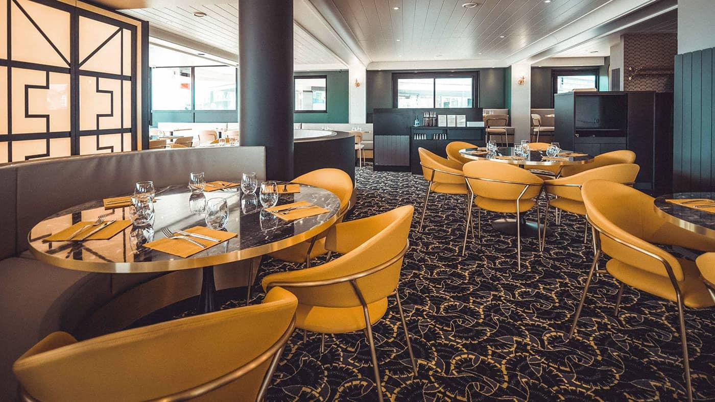 Intérieur du restaurant Victoria, Réalisation : Calme Intérieur Agencement